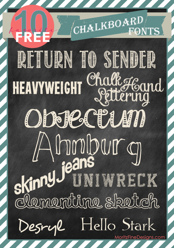 free FONT friday | chalkboard fonts