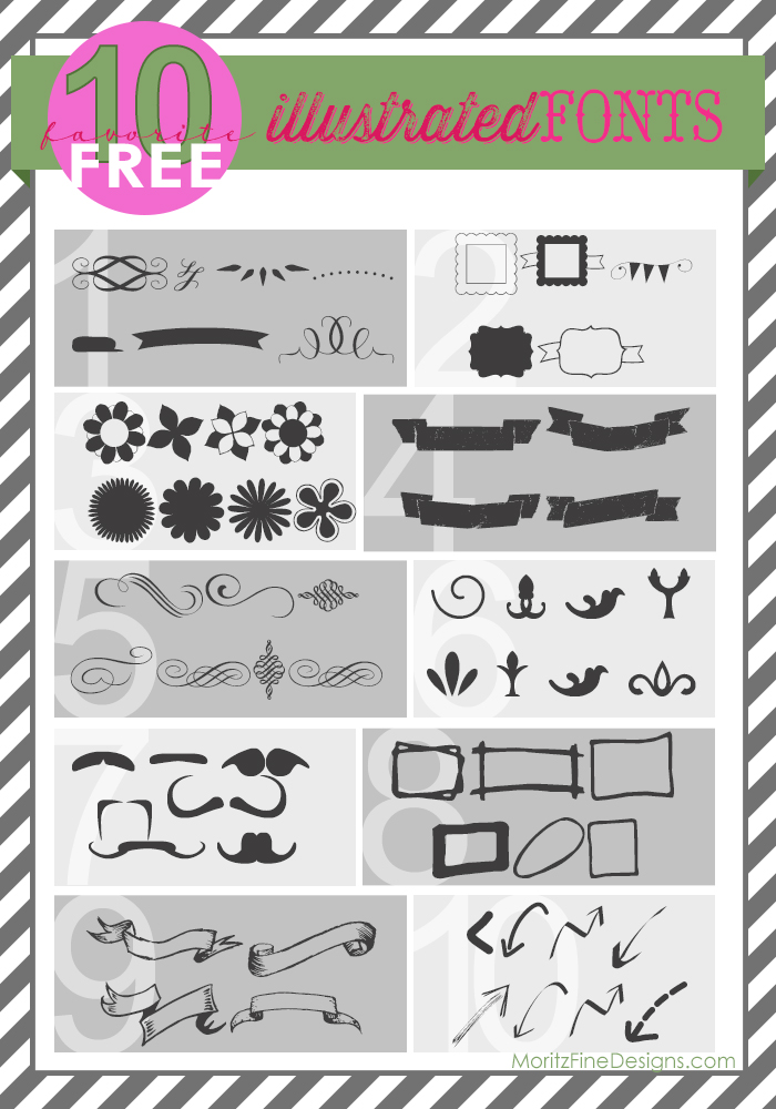 free FONT friday | dingbat / illustrated font favorites