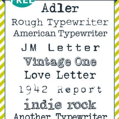 Free typewriter font download