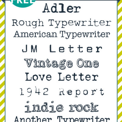 free FONT friday | Typewriter Fonts
