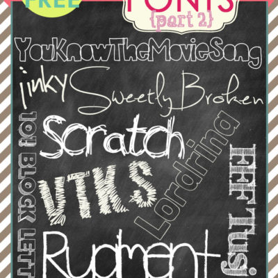 free FONT friday | free chalkboard fonts, part 2