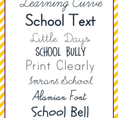 free FONT friday | school's out! celebrate with school fonts