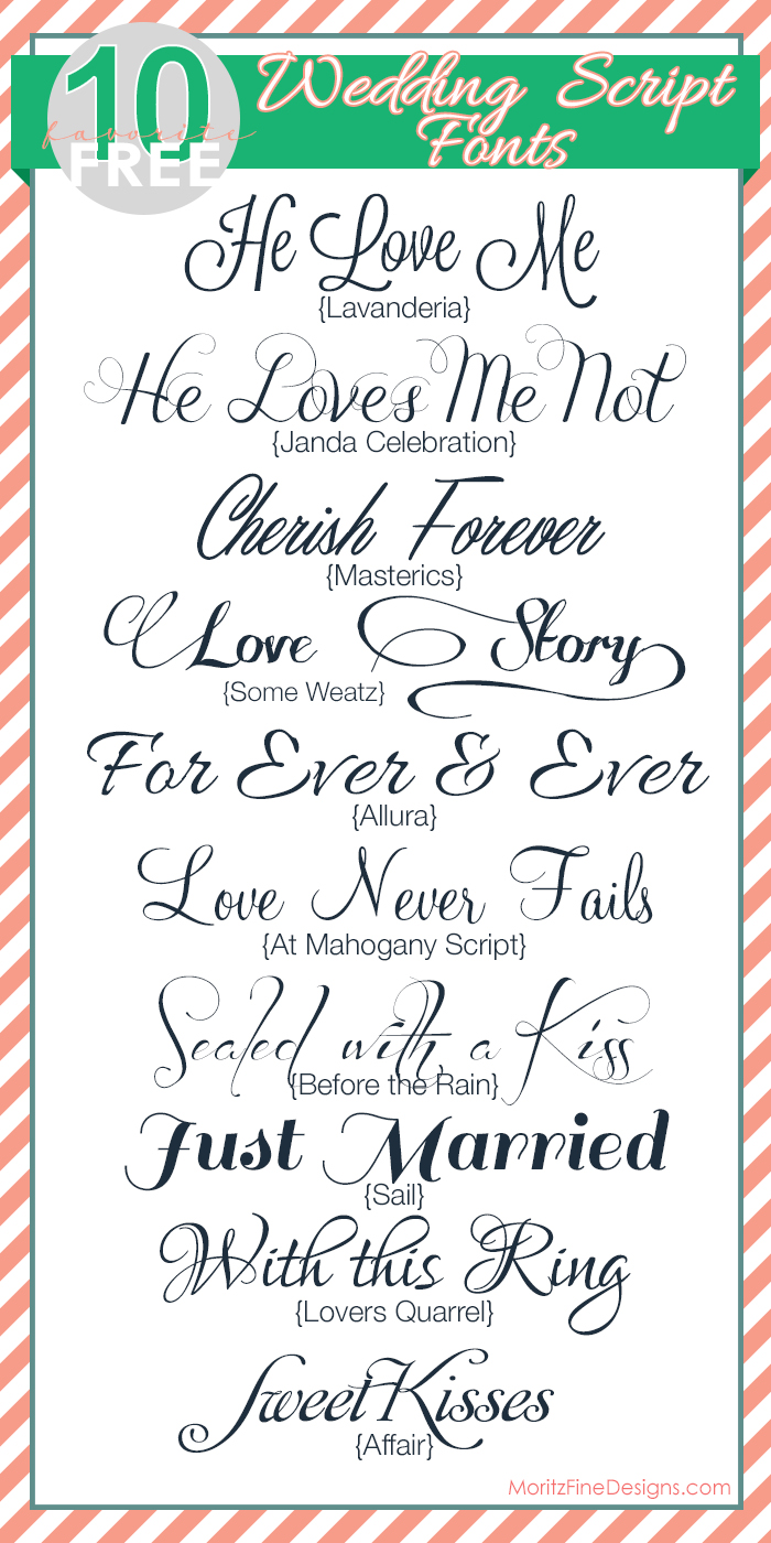 Wedding Invitation Fonts.Fabulous Free Wedding Script Fonts Wedding Ideas