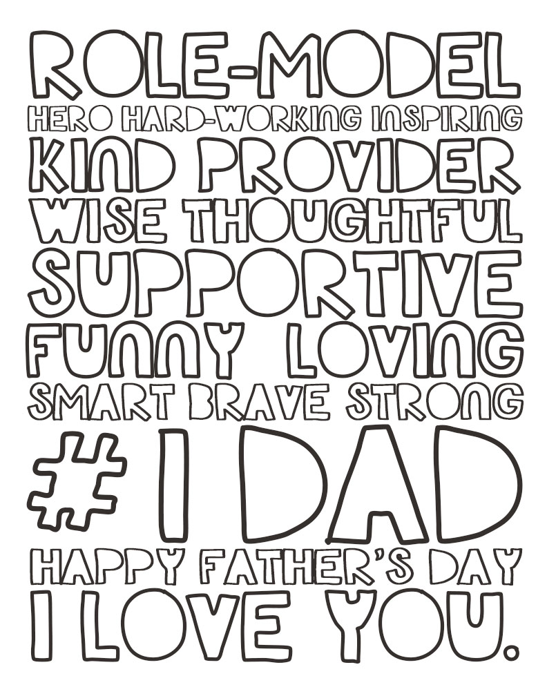 This is a picture of Delicate Fathers Day Printables