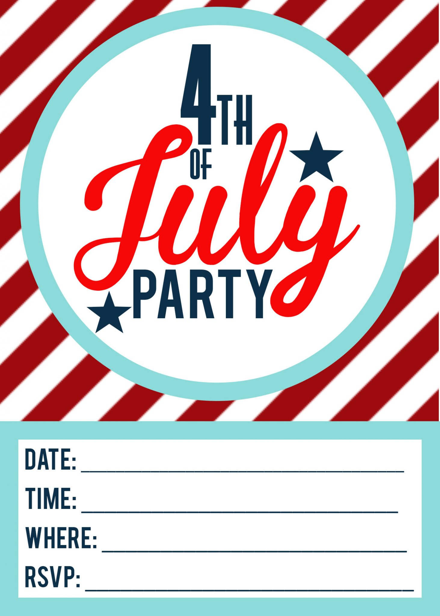 4th of july party invitation koni polycode co