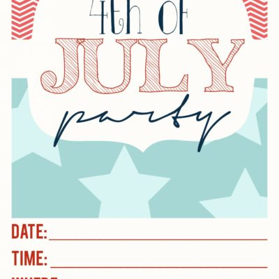 4th of July party | 4th of July invitations | party invitations | 4th of July ideas | free printable