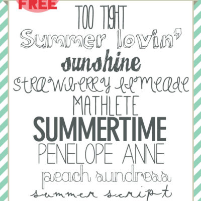 free FONT friday | free SUMMER fonts