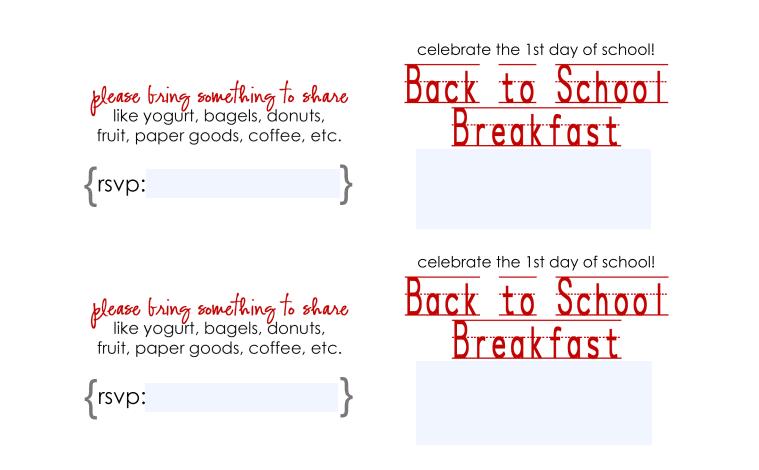 sample back to school breakfast pdf