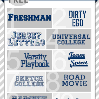 FREE font Friday | Collegiate Fonts