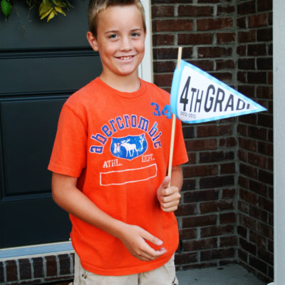 Free Printable | First Day of School Picture Pennants