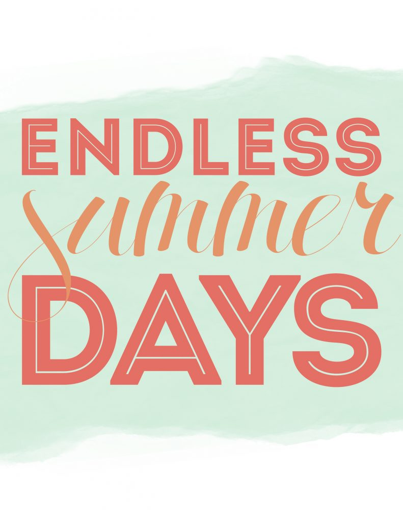 Endless Summer Days Free Printable