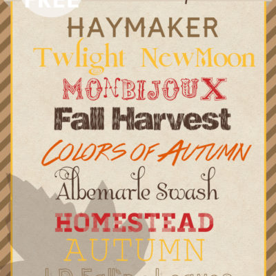 Best Fall & Autumn Fonts | Free Font Friday