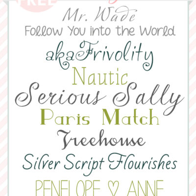 Free Font Friday | The Best Girly-Girl Fonts