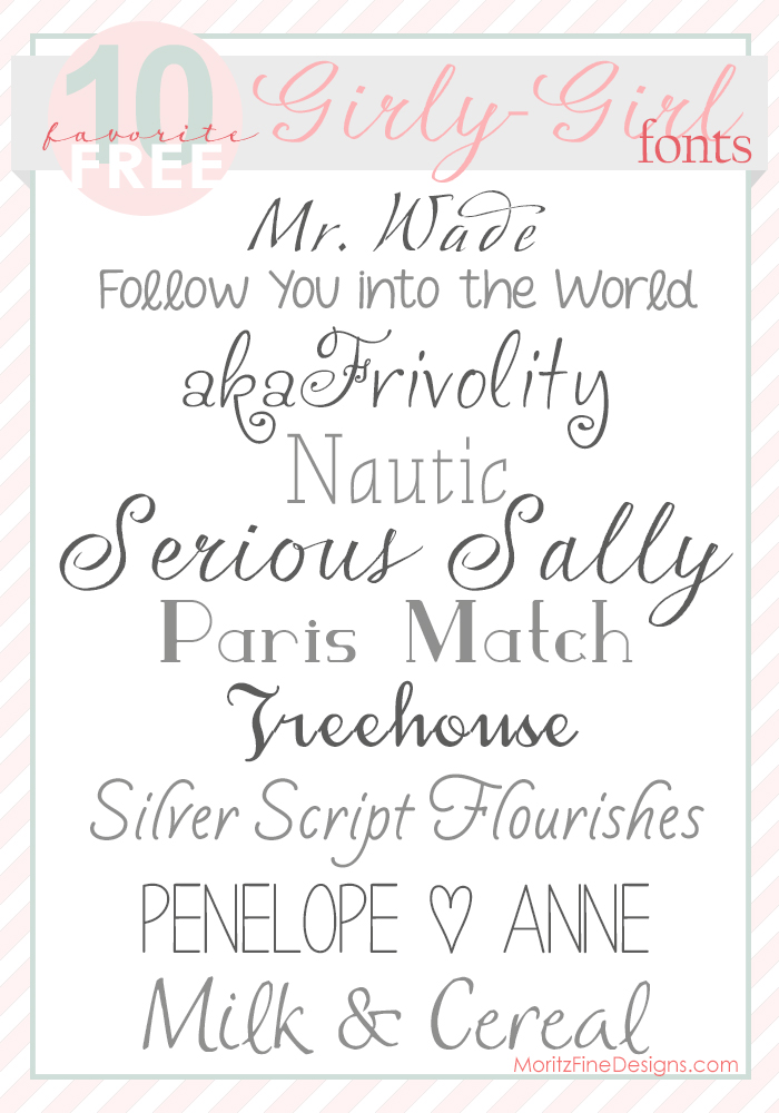 Girly and Pretty Fonts