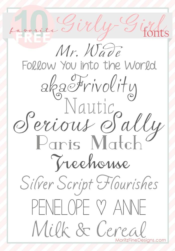 Free Girl cursive font downloads