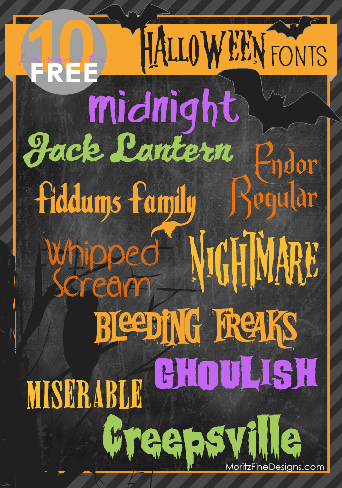 The best spooky, creepy and scary free halloween fonts for you to download!