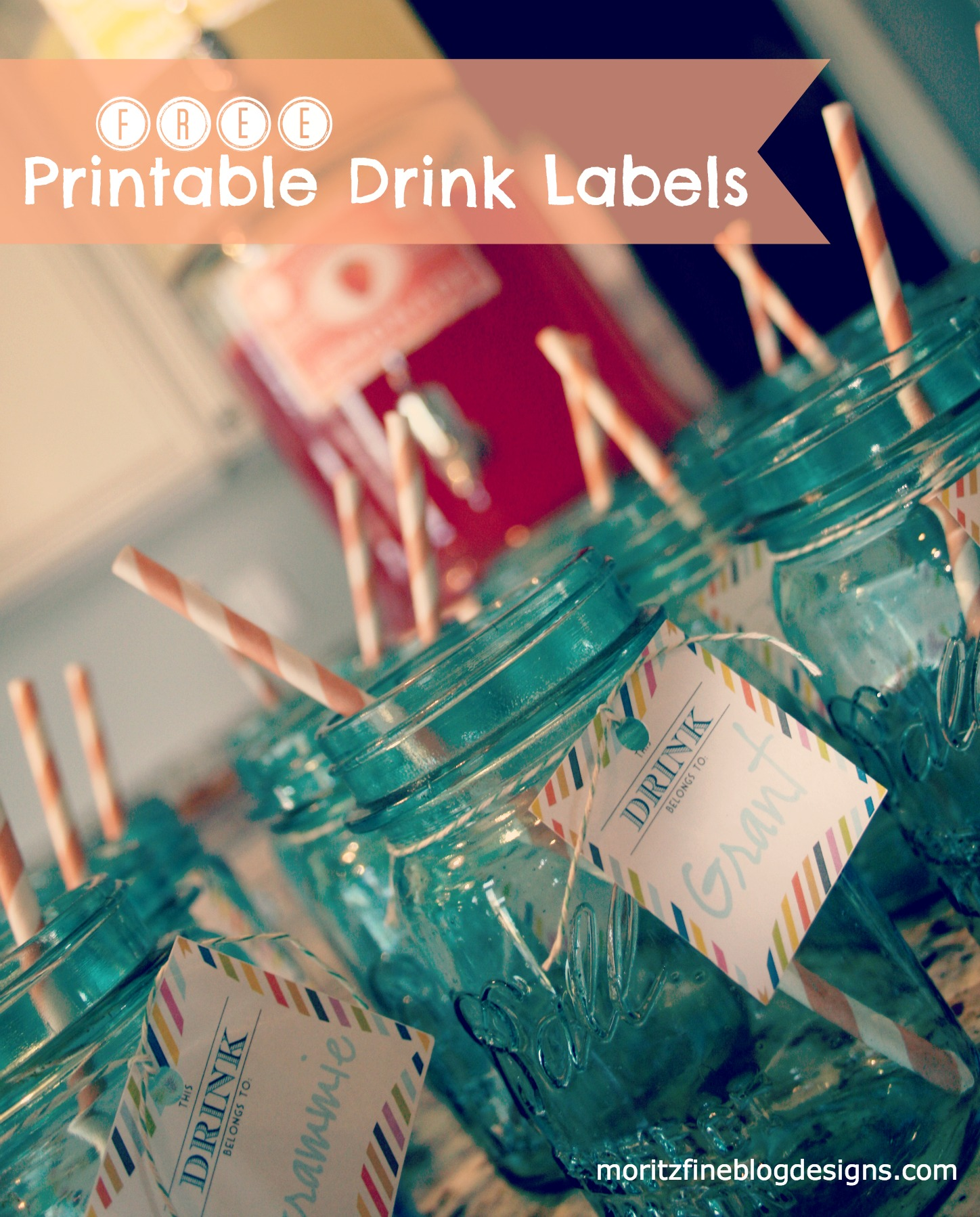 Free Printable | Drink Labels for Mason Jars