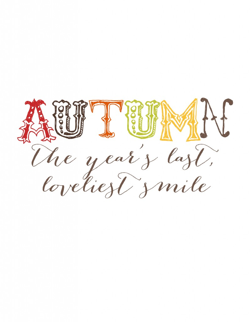 Free Fall Printables Autumn Home Decor - fall home decor quotes