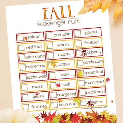 Fall Scavenger Hunt | Free Printable