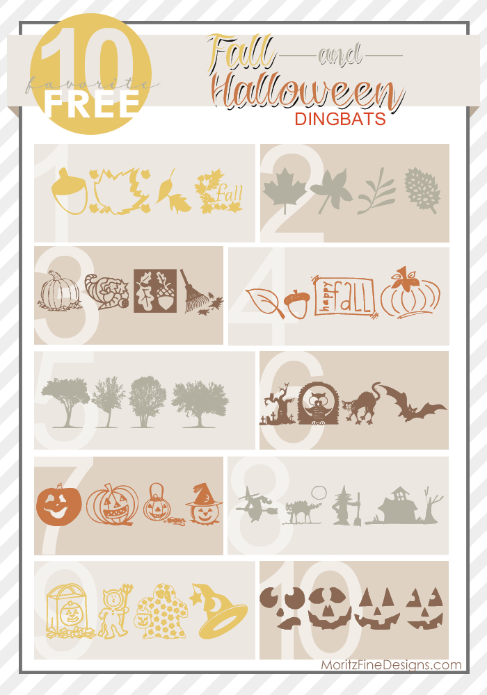 Fall & Halloween Dingbat Fonts | Free Font Friday