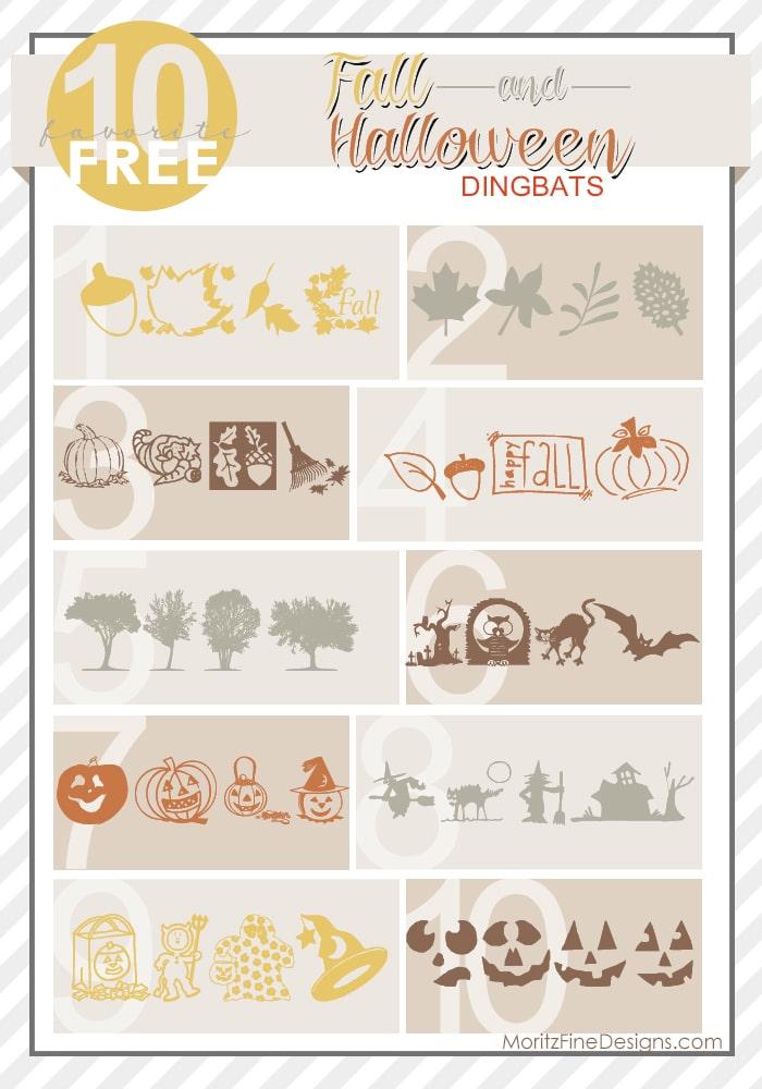 Fall & Halloween Dingbat Fonts | Free Font Friday