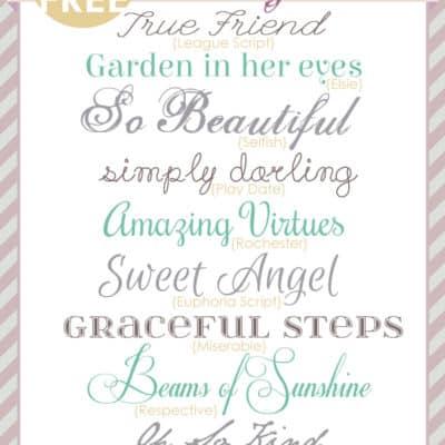Pretty Fonts | Free Font Friday