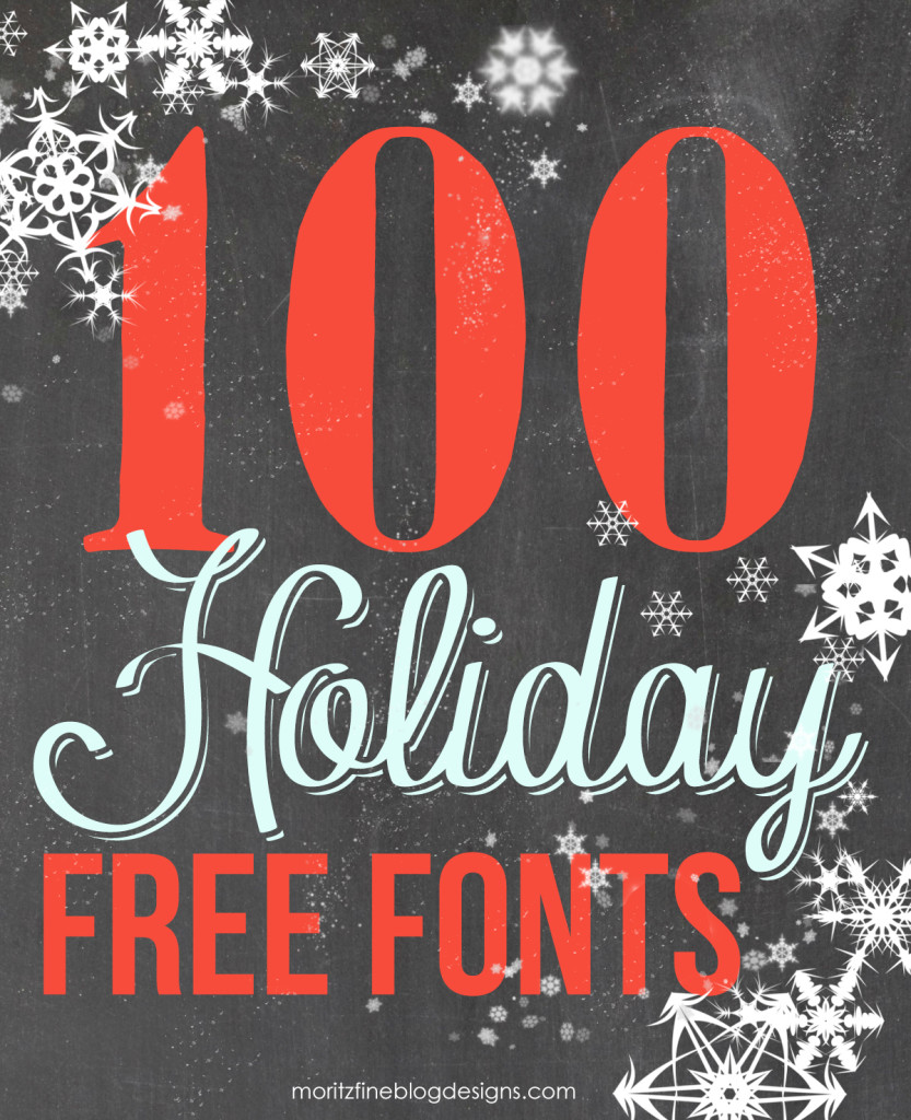 100 Best Holiday Free Fonts