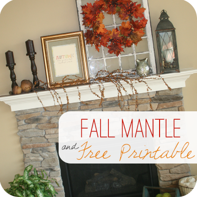 Fall Mantle Decor | Free Printable