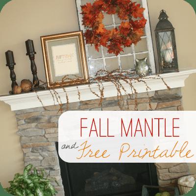 Fall Mantle Decor | Free Printable