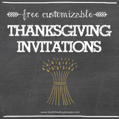 Thanksgiving Invitation Freebie  Free Printable