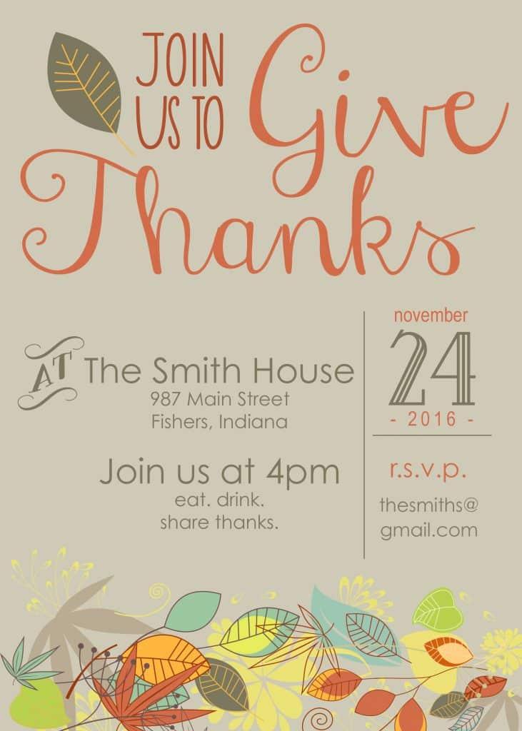 thanksgiving invitation freebie