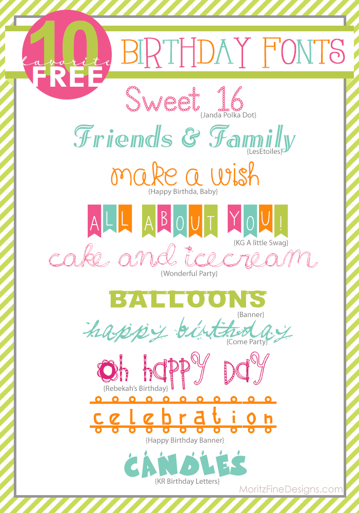 Awesome Free Birthday Fonts
