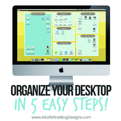 Desktop Organization Backgrounds | Clean up your Computer {2 new backgrounds!}