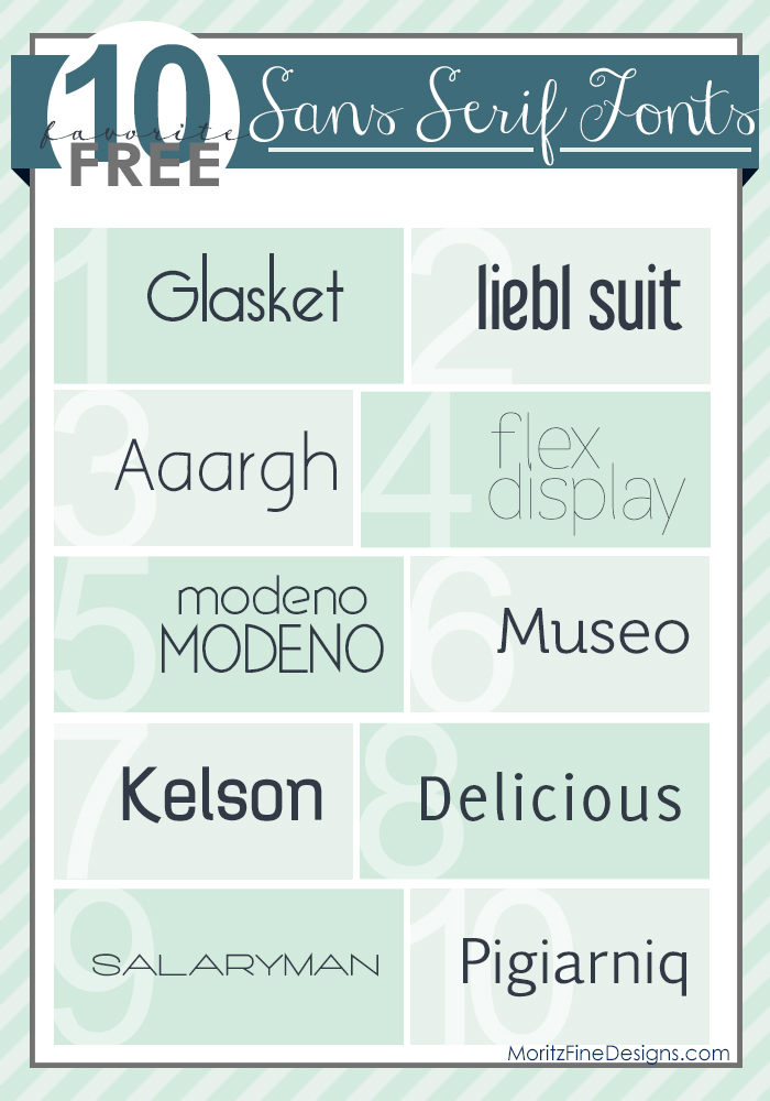 Best Free Sans Serif Fonts | Free Font Friday