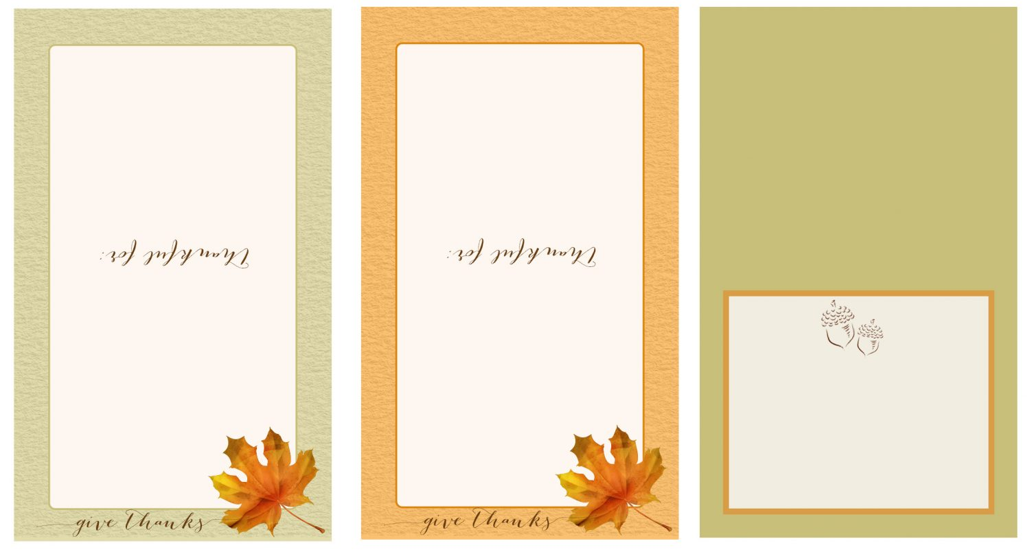 Thanksgiving table place card free printable for Table place cards