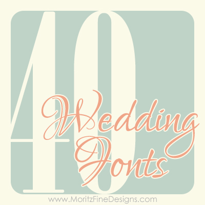 40weddingfonts