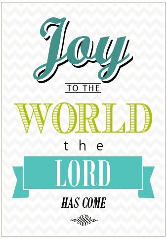 Joy to the World Free Holiday Printbale