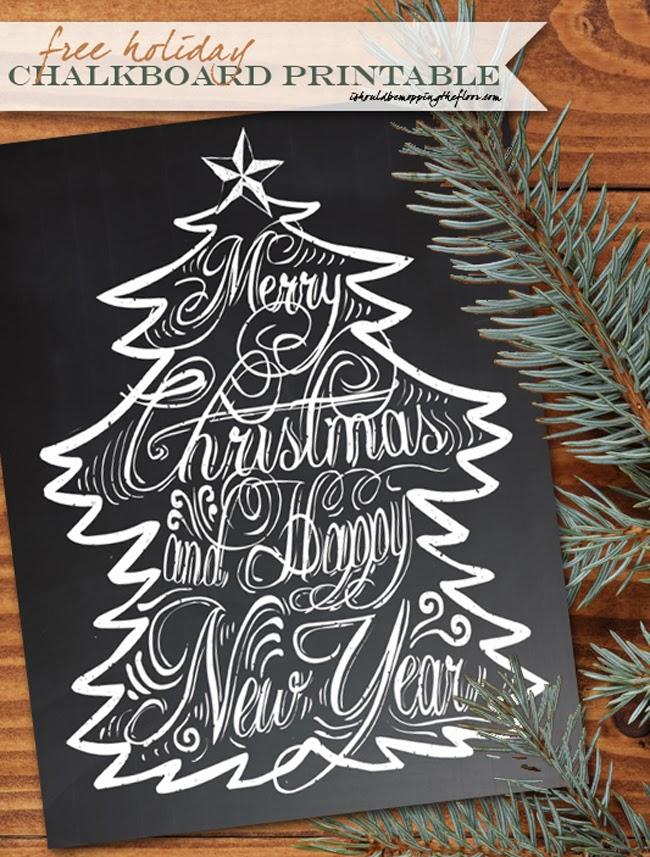 christmas chalkboard printable - Holiday Printables Free