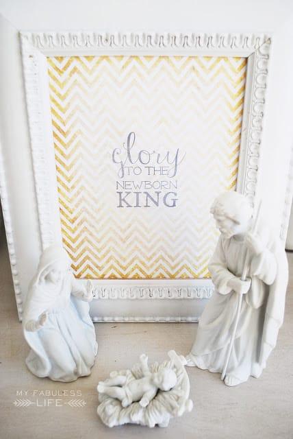 christmas printable glory to the newborn king