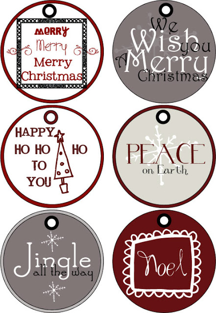 Free Christmas gift tags