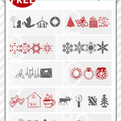 Best Christmas Illustrated Fonts / Dingbats