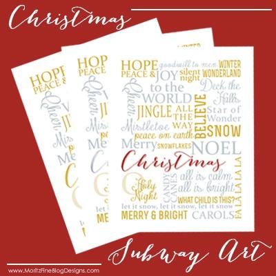 Christmas Subway Art | Free Printable
