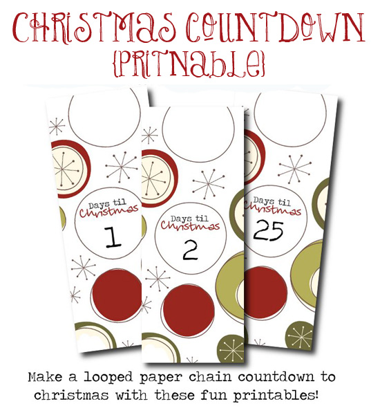 free printable advent paper chain