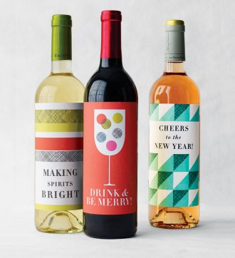 free printable wine holiday labels