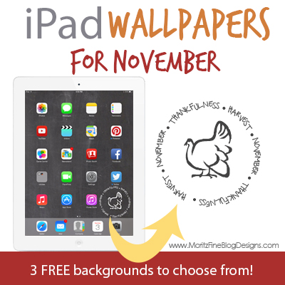 iPad Chalkboard Background for November