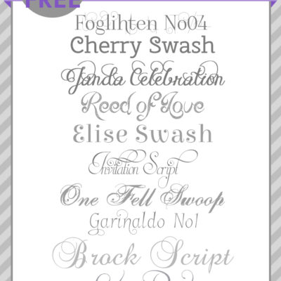 Best Wedding and Shower Invitation Fonts | Free Swash Fonts