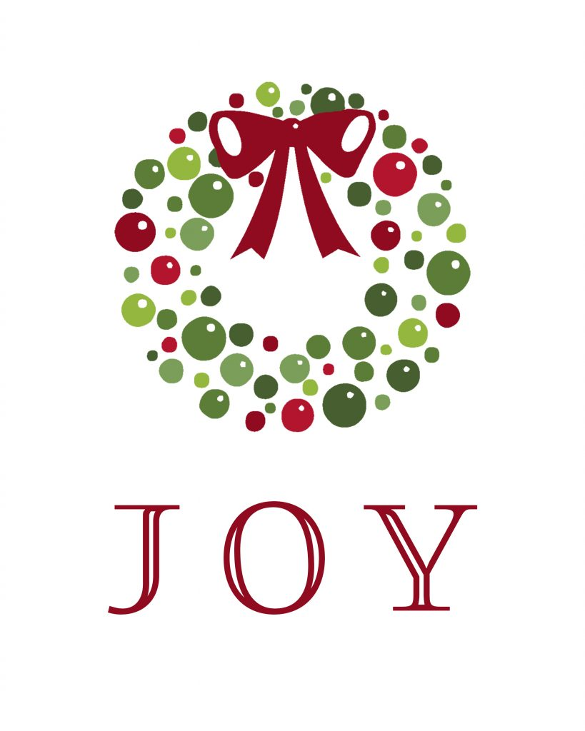 JOY.wreath.RED