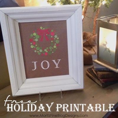 Holiday Joy Free Printable