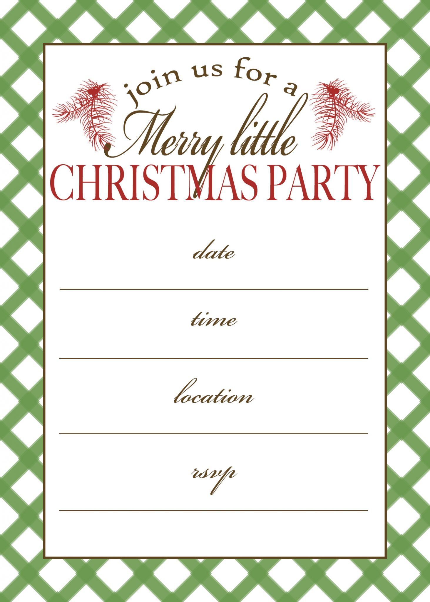 free printable christmas party invitation moritz fine designs
