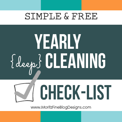 Simple Yearly Cleaning Check-list | Only 3 tasks per month!